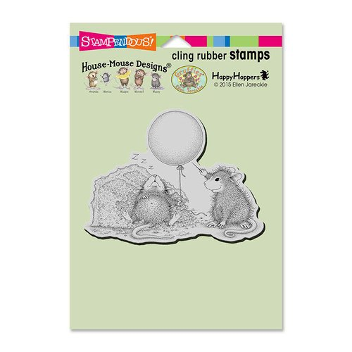 Stampendous - House Mouse Designs - Cling Mounted Rubber Stamps - Birthday Mischief