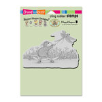 Stampendous - House Mouse Designs - Cling Mounted Rubber Stamps - Dragonfly Skateboard