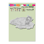 Stampendous - House Mouse Designs - Cling Mounted Rubber Stamps - Cheese Puffs