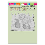 Stampendous - House Mouse Designs - Cling Mounted Rubber Stamps - Peony Umbrella