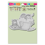 Stampendous - House Mouse Designs - Cling Mounted Rubber Stamps - Cupcake Happy