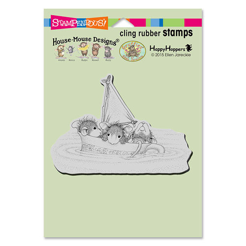 Stampendous - House Mouse Designs - Cling Mounted Rubber Stamps - Sail Cup