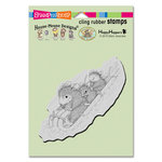 Stampendous - House Mouse Designs - Christmas - Cling Mounted Rubber Stamps - Peppermint Sledding