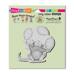 Stampendous - House Mouse Designs - Cling Mounted Rubber Stamps - Easter Egg Juggle