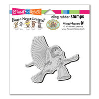 Stampendous - Christmas - House Mouse Designs - Cling Mounted Rubber Stamps - Cardinal Bell