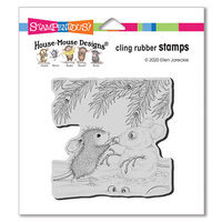 Stampendous - Christmas - Cling Mounted Rubber Stamps - Snowmouse
