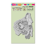 Stampendous - House Mouse Designs - Cling Mounted Rubber Stamps - Cross Stitch Heart