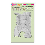 Stampendous - House Mouse Designs - Cling Mounted Rubber Stamps - Dog Ride
