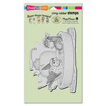 Stampendous - House Mouse Designs - Cling Mounted Rubber Stamps - Bird Bath