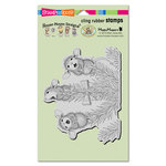 Stampendous - House Mouse Designs - Christmas - Cling Mounted Rubber Stamps - Pine Carolers