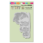 Stampendous - House Mouse Designs - Christmas - Cling Mounted Rubber Stamps - Star Decorations