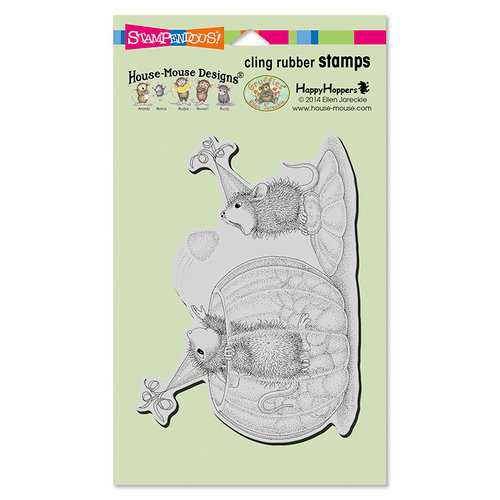 Stampendous - House Mouse Designs - Cling Mounted Rubber Stamps - Gumdrop Toss