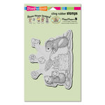 Stampendous - House Mouse Designs - Cling Mounted Rubber Stamps - Popcorn Birthday