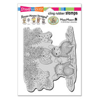 Stampendous - Christmas - House Mouse Designs - Cling Mounted Rubber Stamps - Cookie Ornaments