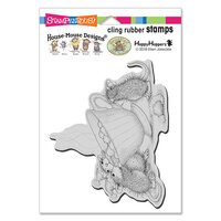 Stampendous - Christmas - House Mouse Designs - Cling Mounted Rubber Stamps - Sharing A Sip