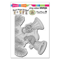 Stampendous - Christmas - House Mouse Designs - Cling Mounted Rubber Stamps - Bell Swinging