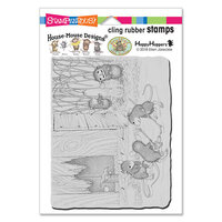 Stampendous - House Mouse Designs - Cling Mounted Rubber Stamps - Mice Hockey