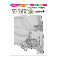 Stampendous - House Mouse Designs - Cling Mounted Rubber Stamps - Balloon Buddies