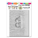Stampendous - House Mouse Designs - Cling Mounted Rubber Stamps - Teacup Kiss
