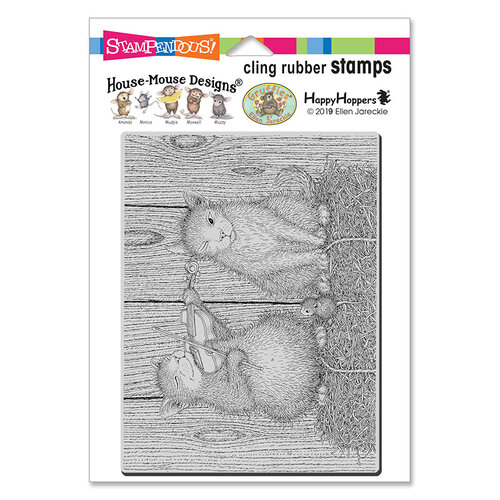 Stampendous - House Mouse Designs - Cling Mounted Rubber Stamps - Cat And The Fiddle