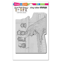 Stampendous - Cling Mounted Rubber Stamps - Kitten On The Keys