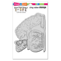 Stampendous - Cling Mounted Rubber Stamps - Curious Kitten