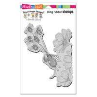Stampendous - House Mouse Designs - Cling Mounted Rubber Stamps - Bumble Bee Fun