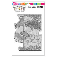 Stampendous - House Mouse Designs - Cling Mounted Rubber Stamps - Drying Herbs
