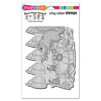 Stampendous - House Mouse Designs - Cling Mounted Rubber Stamps - Nut Cracker