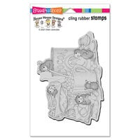 Stampendous - House Mouse Designs - Cling Mounted Rubber Stamps - Marshmallow Mice