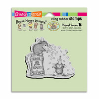 Stampendous - House Mouse Designs - Cling Mounted Rubber Stamps - Glitter Hearts