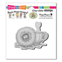 Stampendous - House Mouse Designs - Cling Mounted Rubber Stamps - Donut Day
