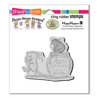 Stampendous - House Mouse Designs - Cling Mounted Rubber Stamps - Chocolate Dip