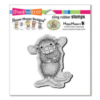 Stampendous - House Mouse Designs - Cling Mounted Rubber Stamps - Masked Maxwell