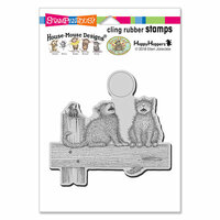 Stampendous - House Mouse Designs - Cling Mounted Rubber Stamps - Moon Song