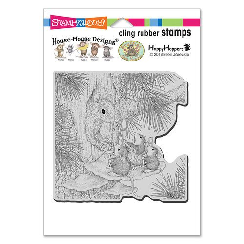 Stampendous - Christmas - House Mouse Designs - Cling Mounted Rubber Stamps - Squirrel Singers