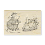 Stampendous - House Mouse Designs - Wood Mounted Stamps - Strawberry Wish