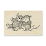 Stampendous - House Mouse Designs - Wood Mounted Stamps - Teddy Friend