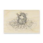Stampendous - House Mouse Designs - Wood Mounted Stamps - Petal Paddler