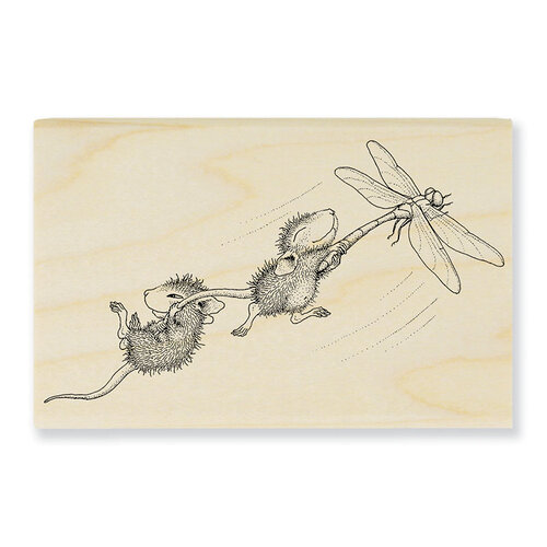 Stampendous - House Mouse Designs - Wood Mounted Stamps - Dragonfly Ride