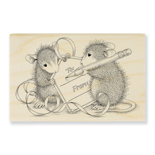 Stampendous - Wood Mounted Stamps - Mouse Tag