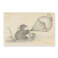 Stampendous - House Mouse Designs - Wood Mounted Stamps - Ornament Sled