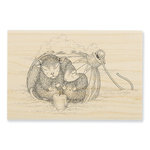 Stampendous - House Mouse Designs - Christmas - Wood Mounted Stamps - Ornament Warmth