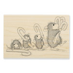 Stampendous - House Mouse Designs - Christmas - Wood Mounted Stamps - Carrying Candy Canes