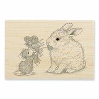 Stampendous - House Mouse Designs - Wood Mounted Stamps - Clover Bouquet