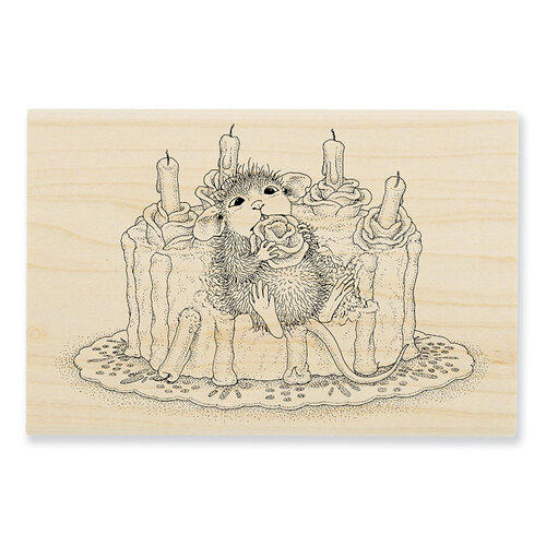 Stampendous - House Mouse Designs - Wood Mounted Stamps - Icing Roses