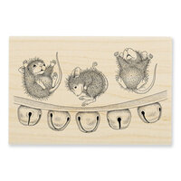Stampendous - Christmas - House Mouse Designs - Wood Mounted Stamps - Jingle Jolly