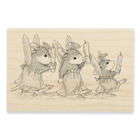 Stampendous - Christmas - House Mouse Designs - Wood Mounted Stamps - Angel Procession