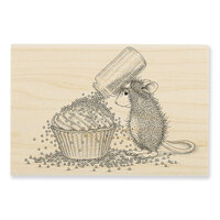 Stampendous - House Mouse Designs - Wood Mounted Stamps - Cupcake Sprinkles