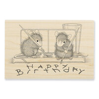 Stampendous - House Mouse Designs - Wood Mounted Stamps - Watercolor Wish